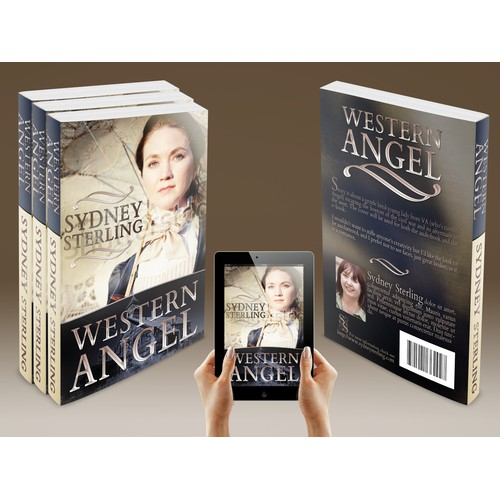 "Create an amazing book cover for my historical western romance ebook ""Western Angel"""