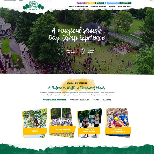 Homepage Design for Ramah Day Camp