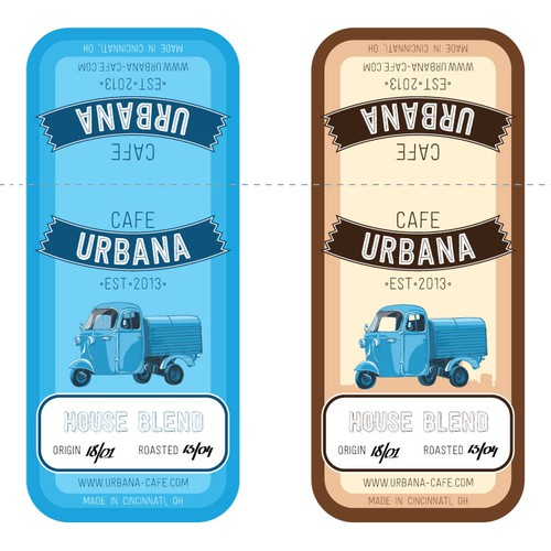 Coffee Label. Labels for coffee bags.
