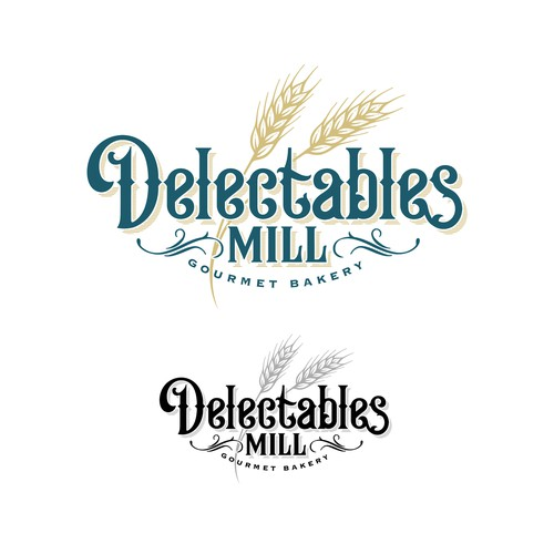 Delectables Mill Bakery Logo
