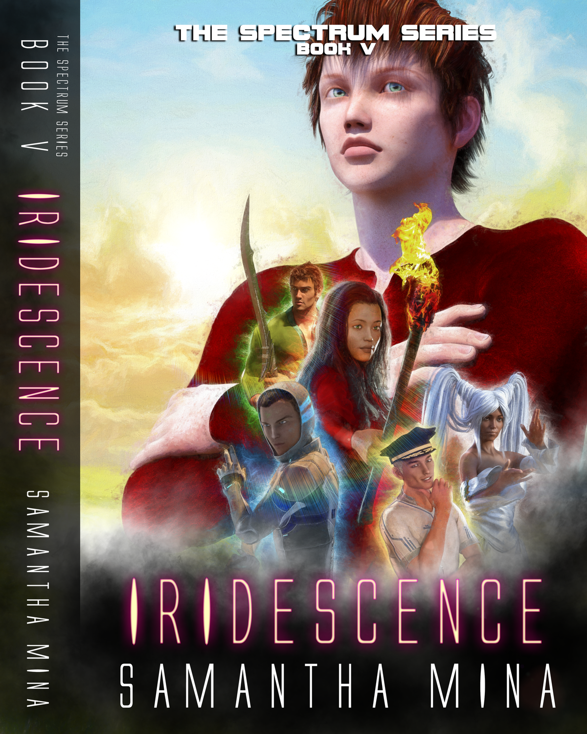 Cover and Spine for Book V of the Spectrum Series: IRIDESCENCE