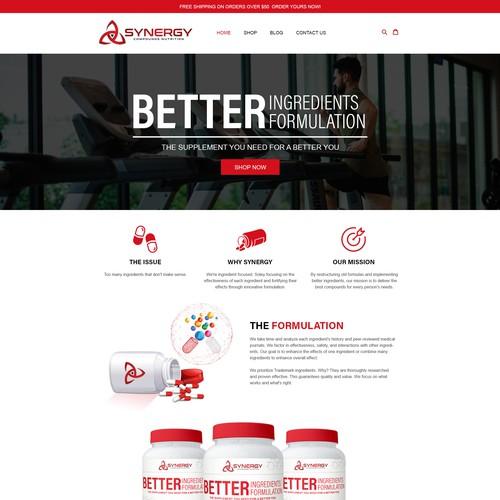 Design Idea for a Supplement company