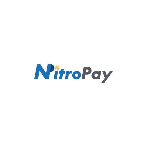 nitro pay logo design