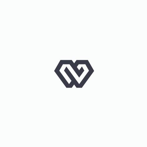 Modern geometric monogram