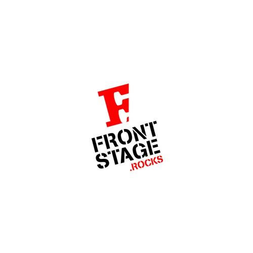 Bold logo for FrontStage.rocks