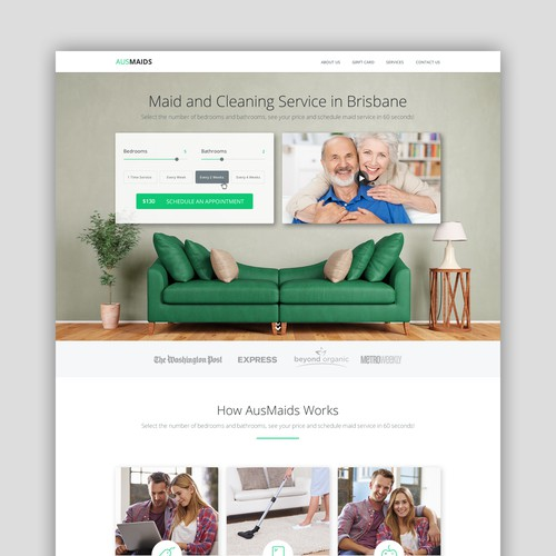 Cleaning and Maid Service Website