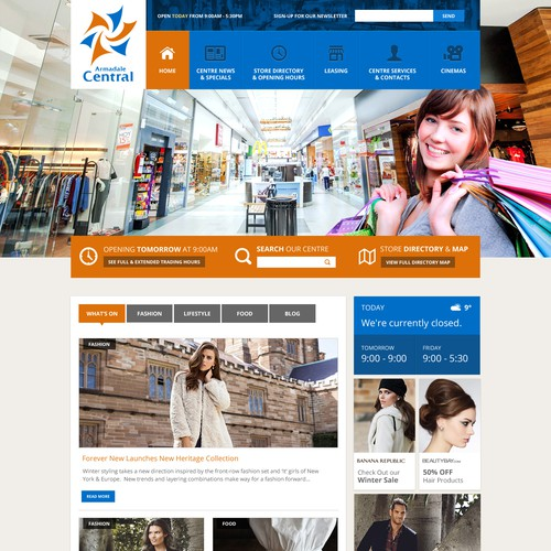 Contemporary design for busy shopping centre