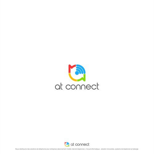 connectivity logo concept for AT CONNECT