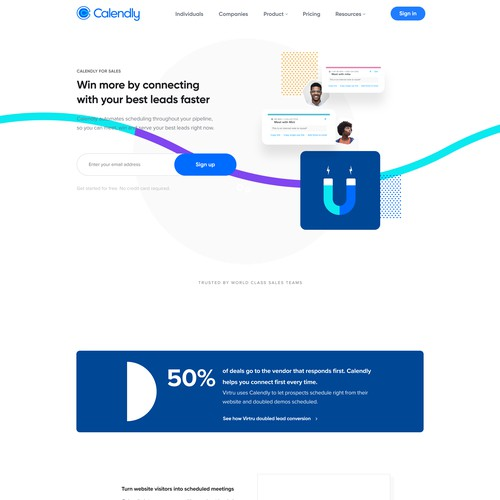 Landing page Sales and marketing