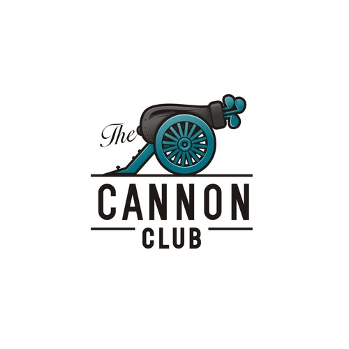 Logo submission features a civil war cannon, with a golf bag & clubs replacing the cannon