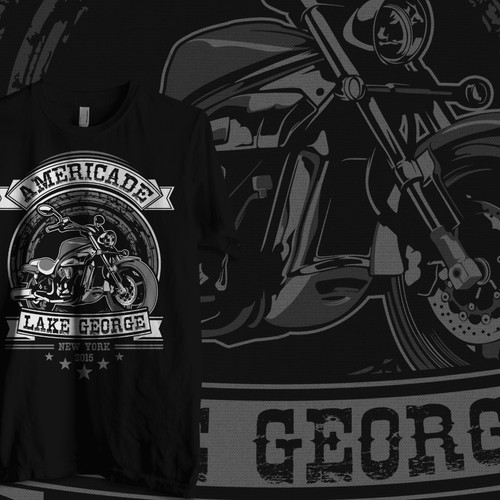 Eye catching Classic Cruiser Motorcycle T shirt