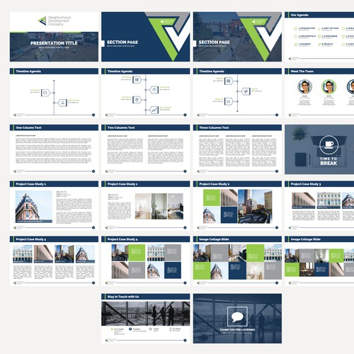 Powerpoint template for real estate company