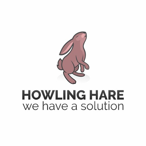 Create an engaging logo of a crazed/evil hare for Howling Hare web solutions.