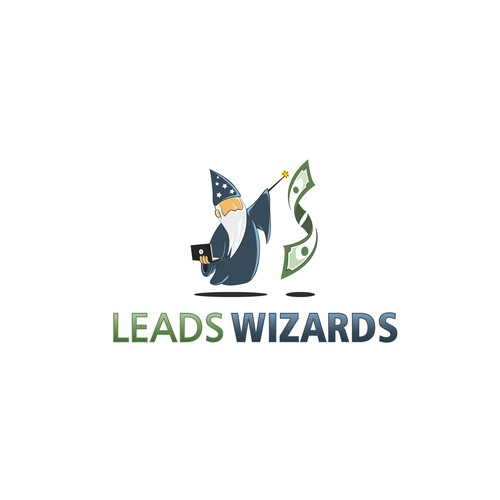 Elegant and Playful Logo for Leads Wizards