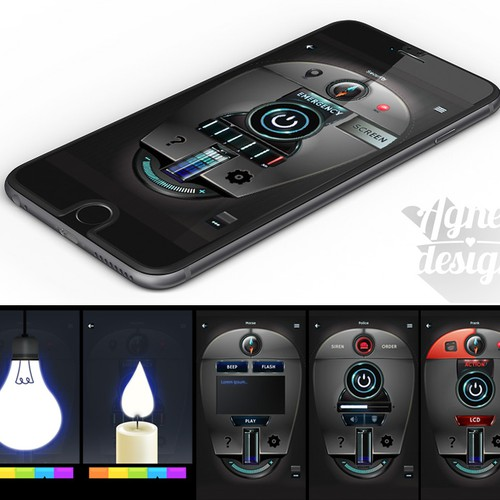 Flashlighte mobile app design