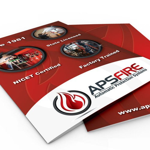 Presentation Folder Design  for Automatic Protection Systems aka APS Fire