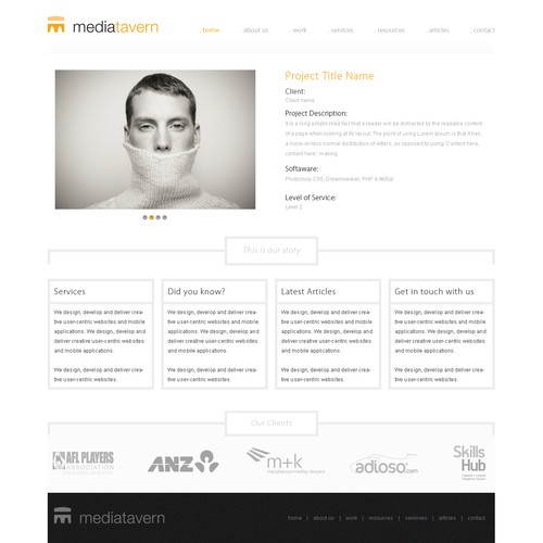 Super slick site design needed for Mediatavern!