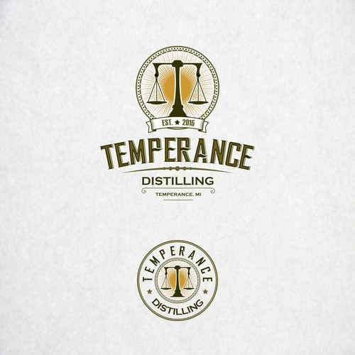 Logo for distilling company