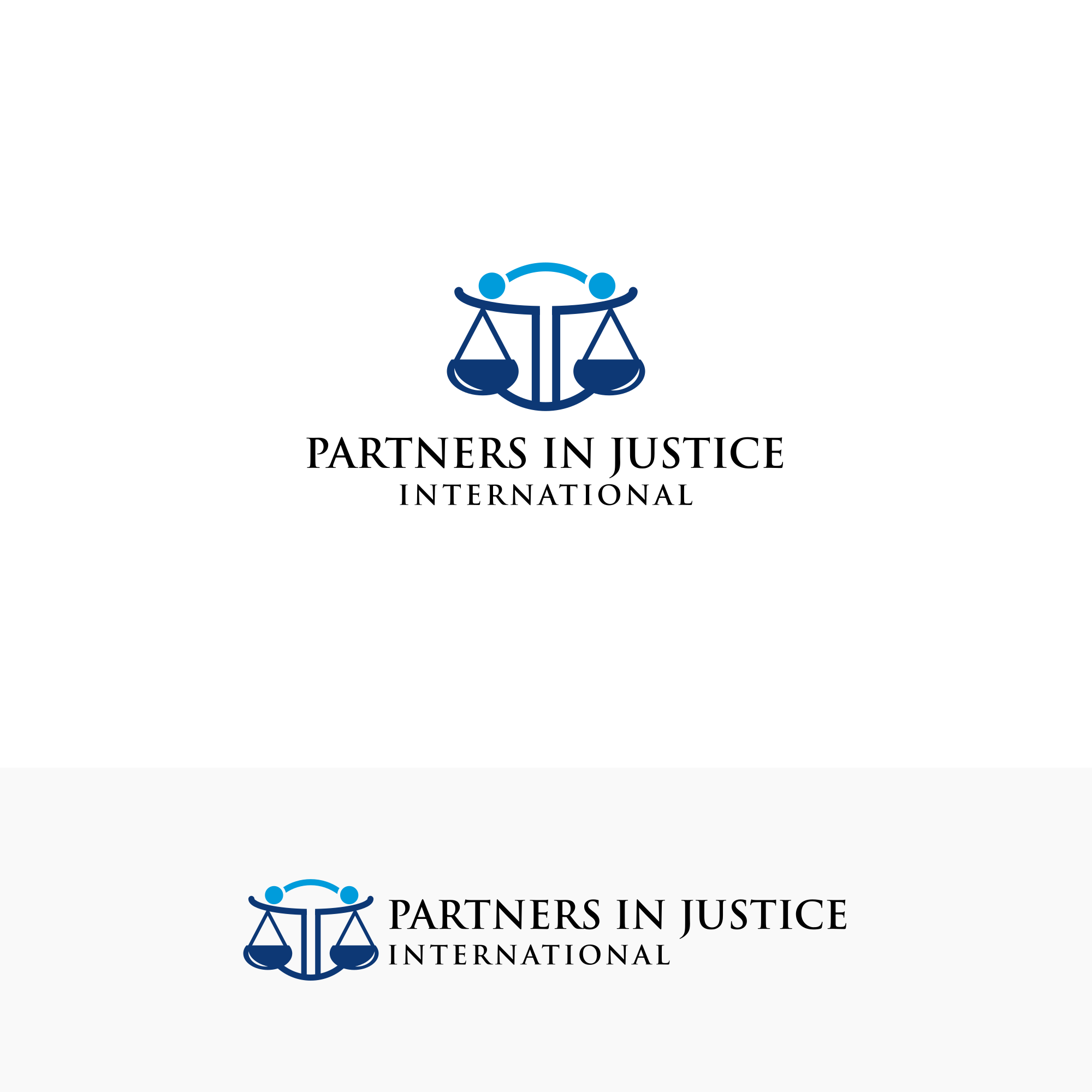 Modern logo for non-profit that advances victim-centered justice for grave crimes at home