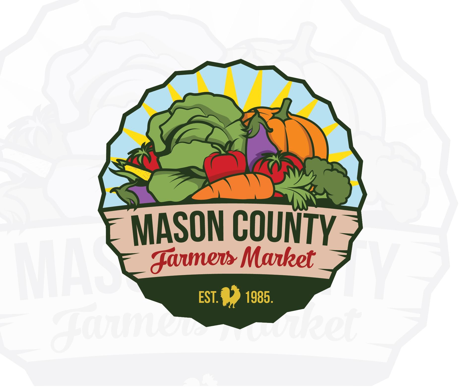 Seeking a rustic emblem design for the Mason County Farmers Market