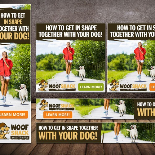 Creative and powerful Banner-Design for the dog sport start-up