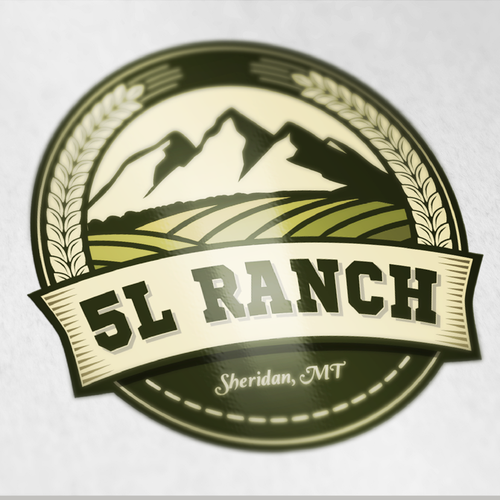 Logo for large Montana farm and ranch