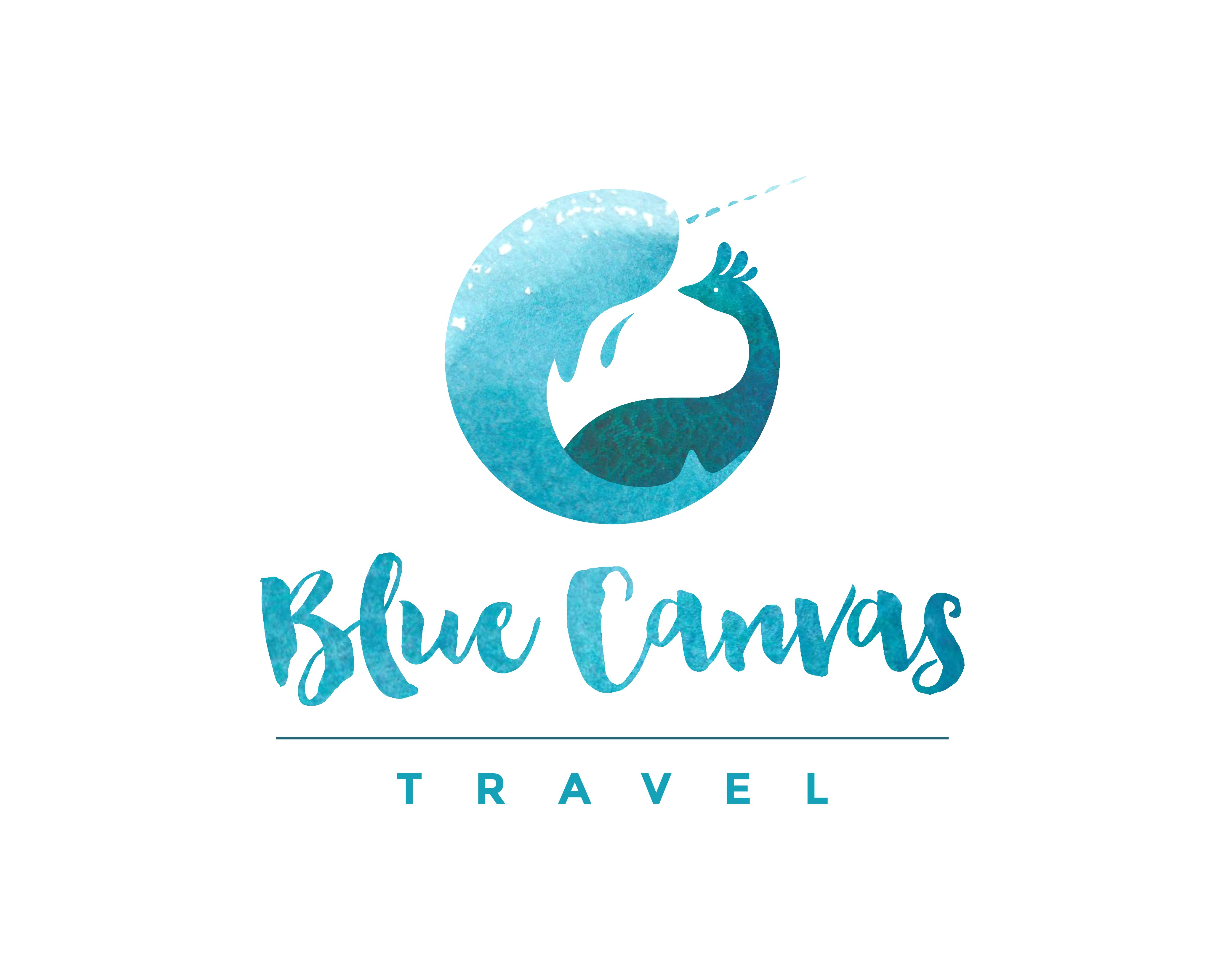 Create an iconic logo and design a website for Blue Canvas Travel