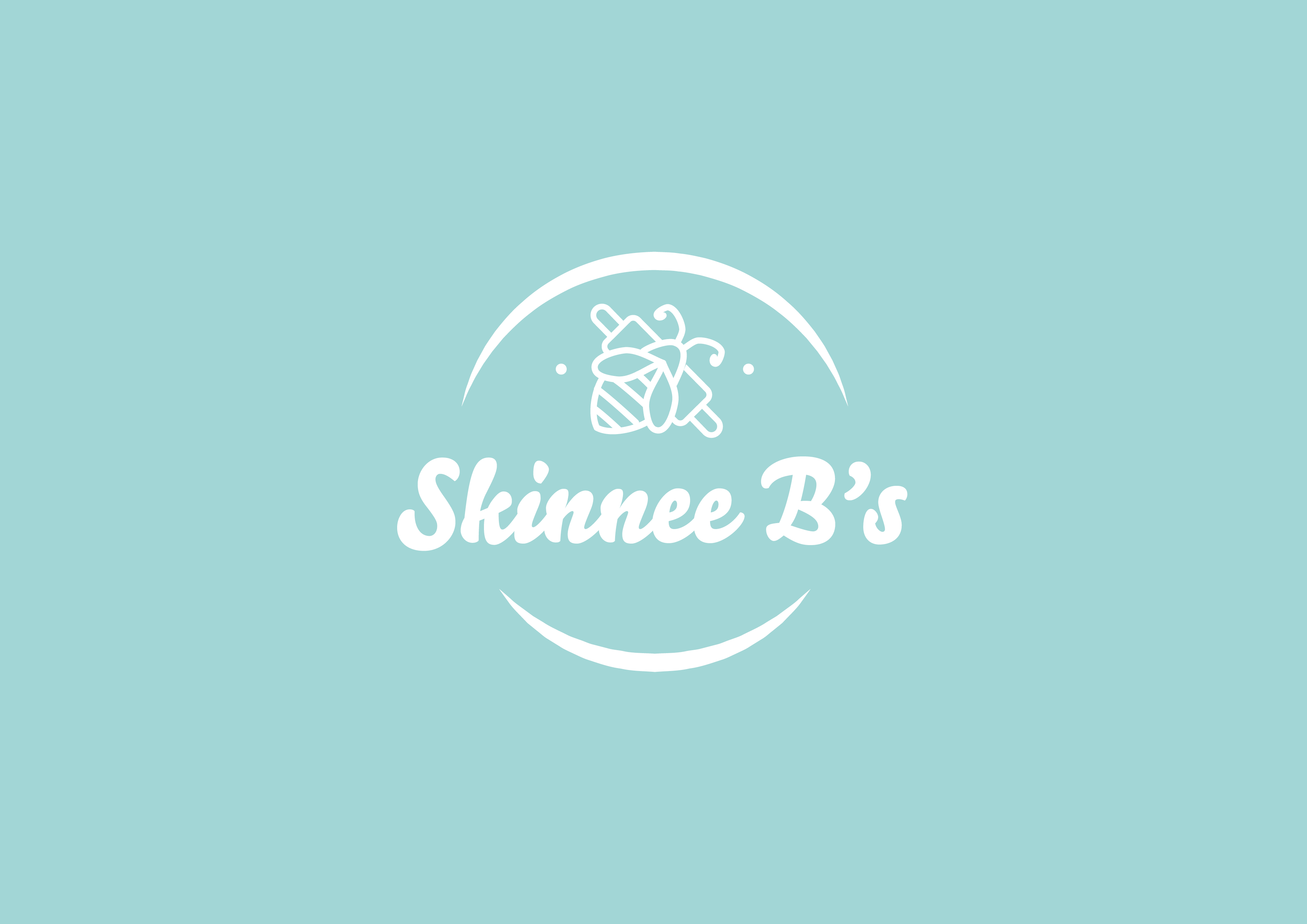 Create a unique bakery logo for Skinnee B's