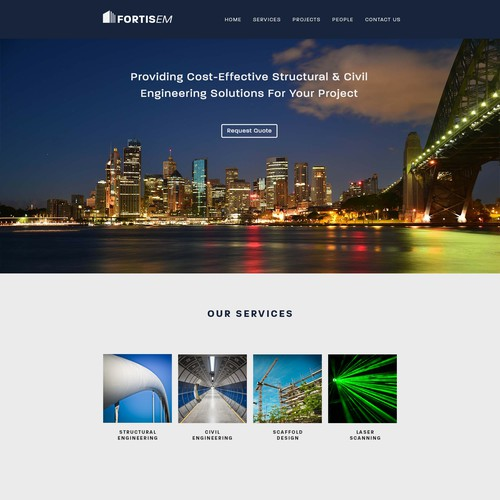 Homepage concept for FortisEM
