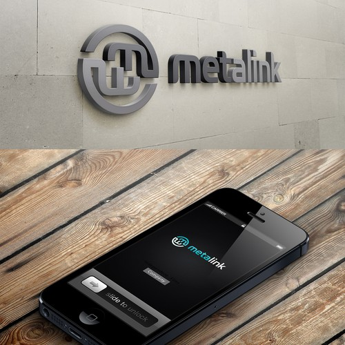 Create a cool and professional logo for metalink