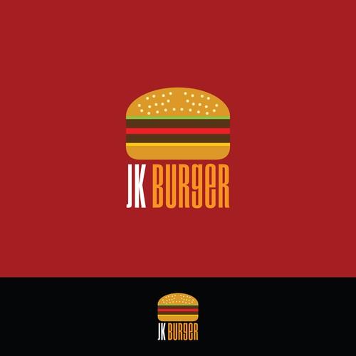 Literal logo concept for JK Burger