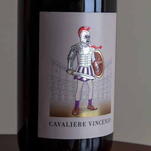 CAVALIERE VINCENZO RED WINE LABEL
