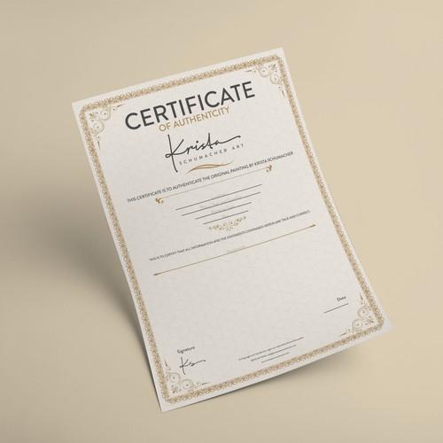 Certificate Designed for KSM