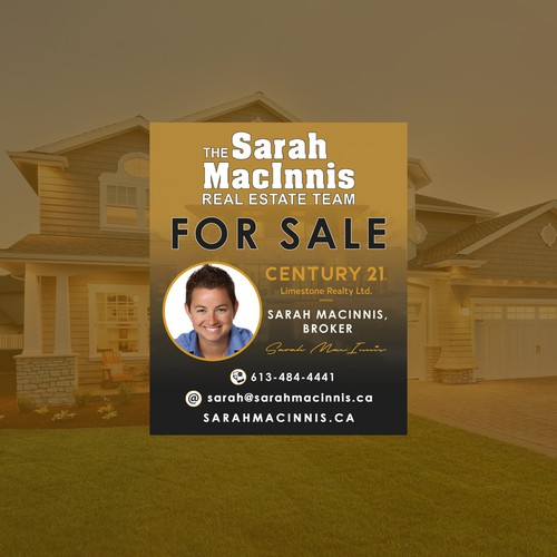 Sale Sign for Real Estate