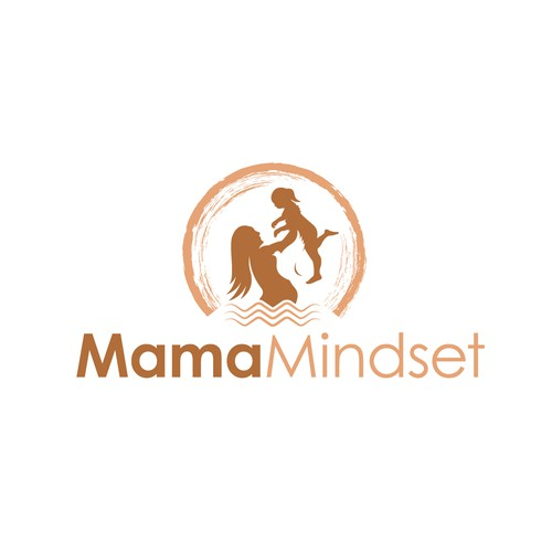 An earthy and organic logo for empowering prenatal and postpartum mothers