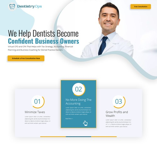 CPA and CFO for Dental Practices Web Design