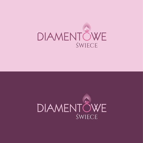 Logo for femininity paradise. CANDLES WITH JEWELLERY