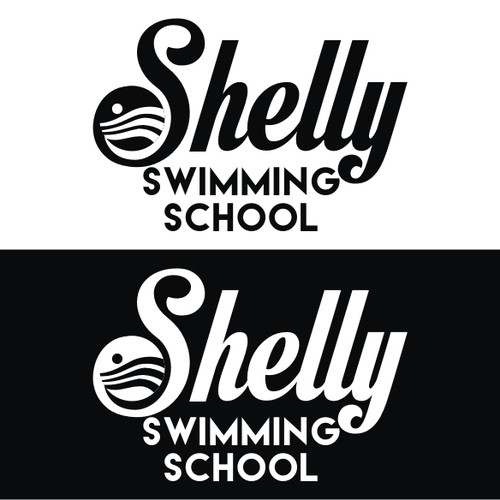 Create a unique illustration to promote a champion Swim School
