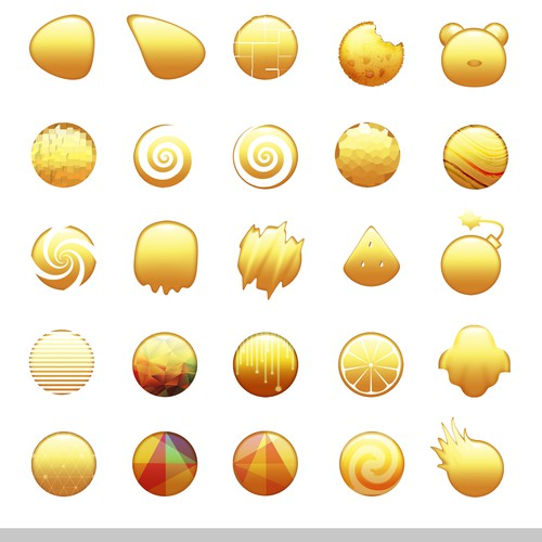 Emoji design in various different styles.