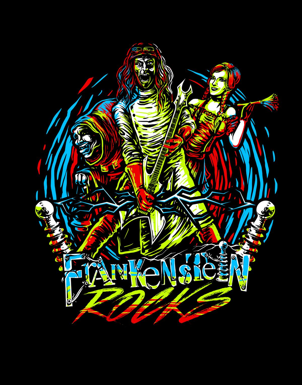 alternate T-shirt 80's design