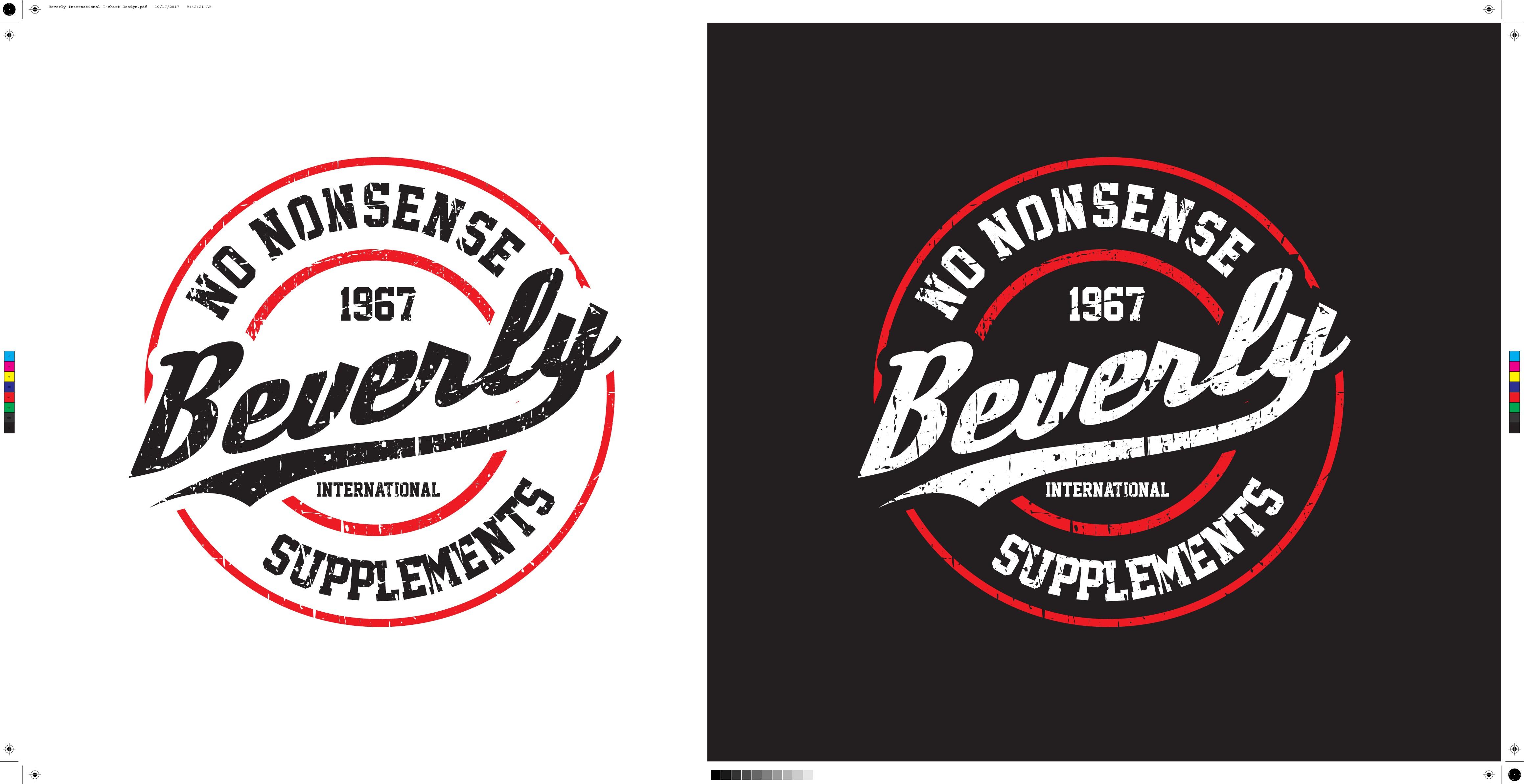 T-shirt design for Beverly International