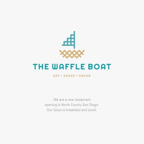 Creative logo for Waffle Restaurant