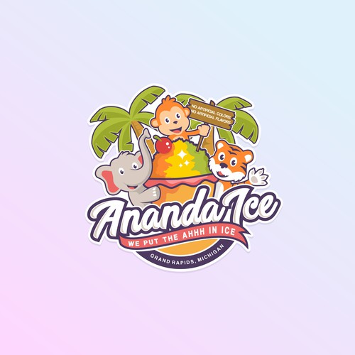 Fun Logo for Tropical Shaved Ice business