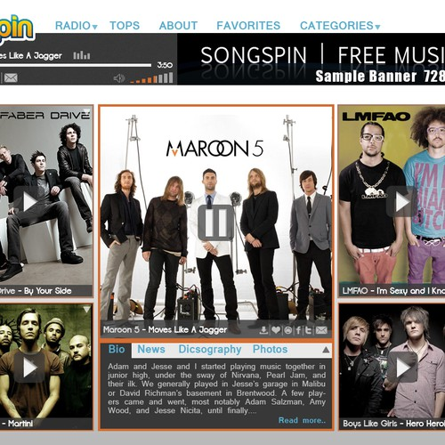 Songspin needs a new website design