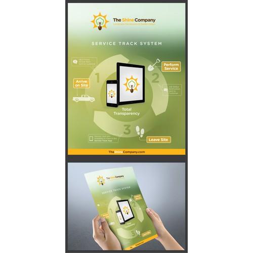 Create an eye opening sales flyer for progressive landscape company