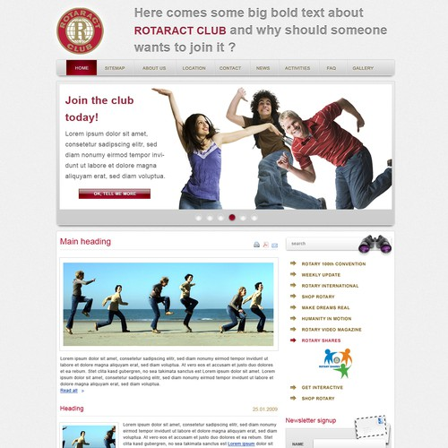 Rotaract Denmark webpage relaunch - please make us interesting!