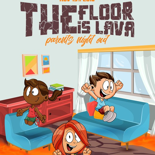 The floor is lava - Poster