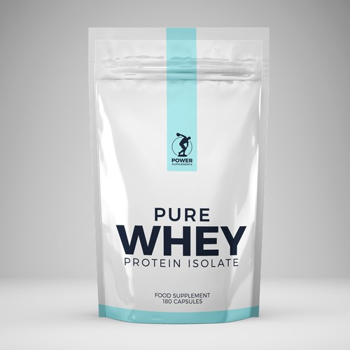 PURE WHEY PROTEIN ISOLAT PACKAGING DESIGN