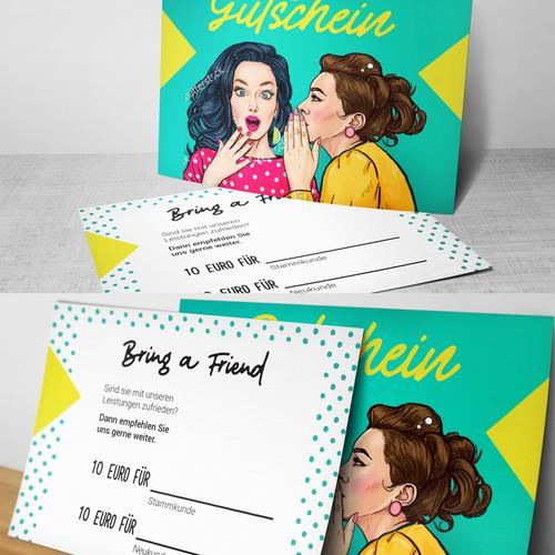 Gift Card Design for a hairdresser