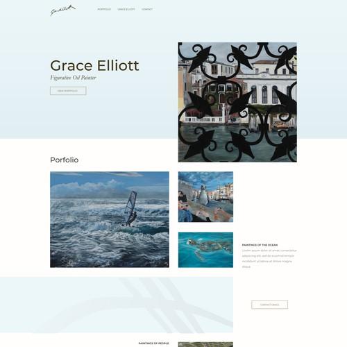 Minimal Website for an Artist
